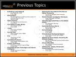 previous topics