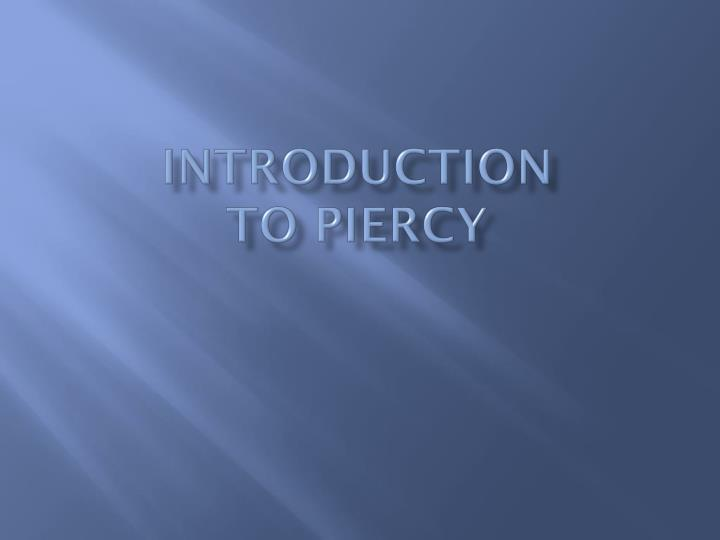 introduction to piercy n.