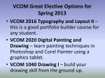 vcom great elective options for spring 2013