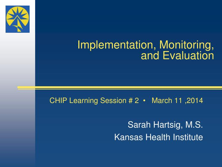 implementation monitoring and evaluation n.