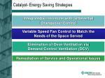 catalyst energy saving strategies
