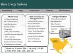 mesa energy systems