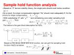 sample hold function analysis