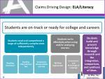 claims driving design ela literacy
