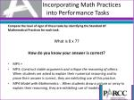 incorporating math practices into performance tasks1