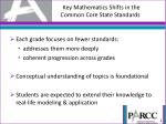 key mathematics shifts in the common core state standards