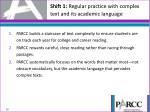 shift 1 regular practice with complex text and its academic language