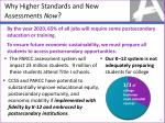 why higher standards and new assessments now
