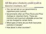 all this price elasticity could result in massive craziness no