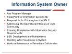 information system owner