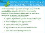 driving green economic development in illinois
