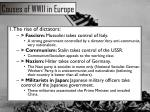 causes of wwii in europe