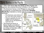 early battles in the pacific