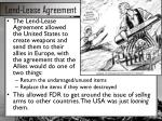 lend lease agreement