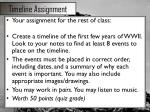 timeline assignment