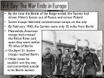 v e day the war ends in europe