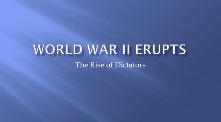 world war ii erupts n.