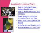 available lesson plans