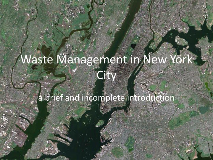 waste management in new york city n.