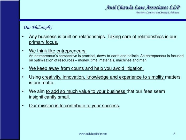 Any business is built on relationships.