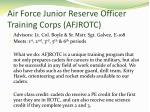 air force junior reserve officer training corps afjrotc
