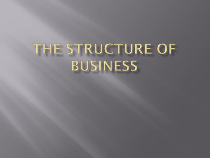 the structure of business n.