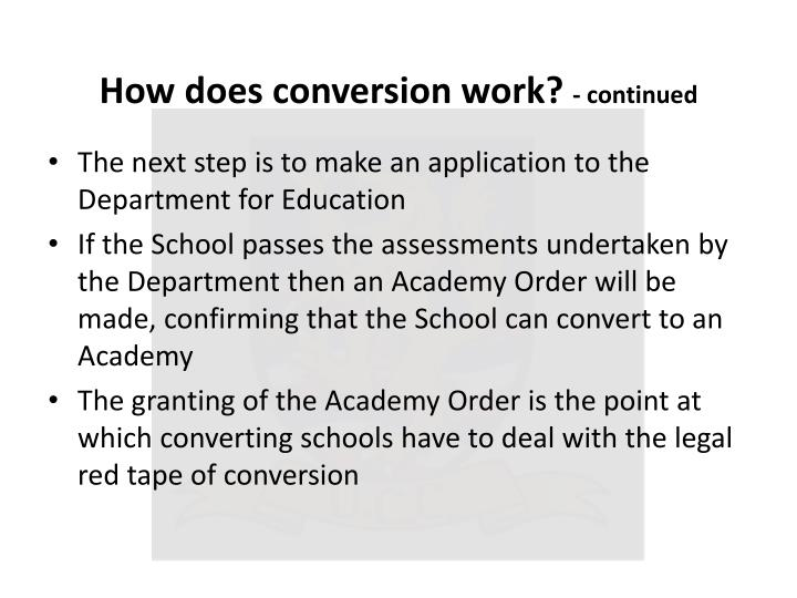 How does conversion work?