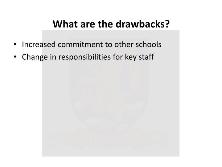 What are the drawbacks?