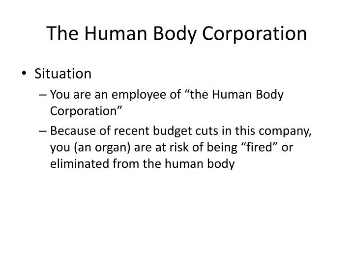 the human body corporation n.