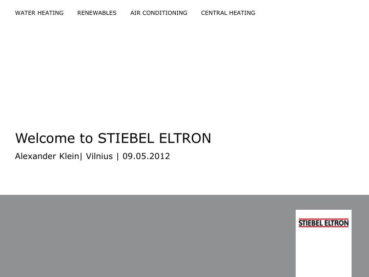 welcome to stiebel eltron n.