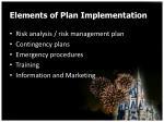 elements of plan implementation