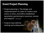 event project planning