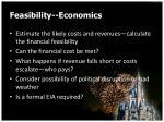feasibility economics
