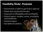 feasibility study purposes