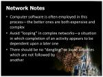 network notes