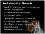 preliminary plan elements