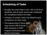 scheduling of tasks