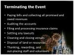 terminating the event