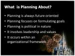what is planning about