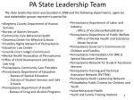 pa state leadership team