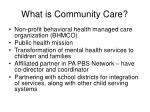 what is community care