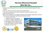 harrison memorial hospital who we are