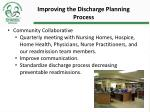 improving the discharge planning process1