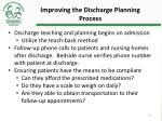 improving the discharge planning process2