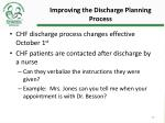 improving the discharge planning process4