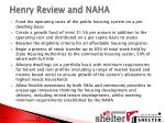 henry review and naha