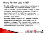 henry review and naha1