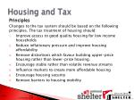 housing and tax
