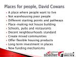 places for people david cowans