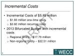incremental costs